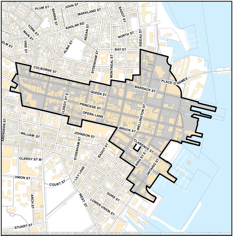 map pf downtown kingston